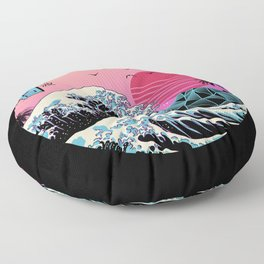 The Great Retro Wave Floor Pillow