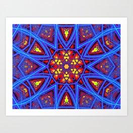 Rainbow Fractal 3 Art Print