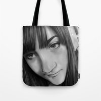 gamer Tote Bags featuring Gamer by Anais.Lalovi