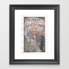 Smoking girl Framed Art Print