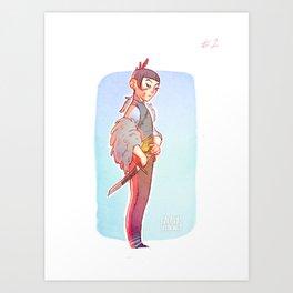 Lost girl #2 Art Print