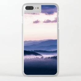 Ultra Violet Lights Clear iPhone Case