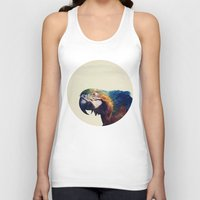 parrot Tank Tops featuring Parrot by Nicklas Heldius