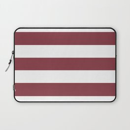 Solid pink - solid color - white stripes pattern Laptop Sleeve