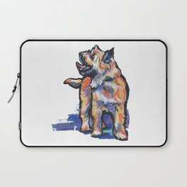 Fun Cairn Terrier Dog bright colorful Pop Art by LEA Laptop Sleeve