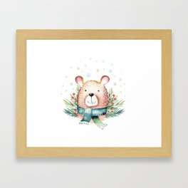 Christmas Bear Framed Art Print