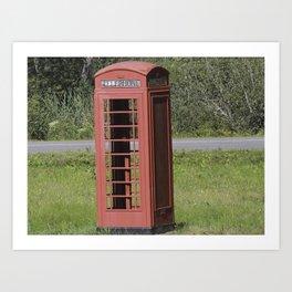 English Phone Booth Art Print