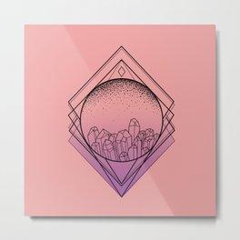 Pristine Cut Metal Print