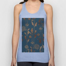 Art Deco Copper Flowers  Unisex Tanktop