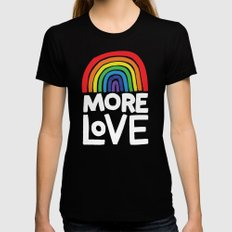 more love Black Womens Fitted Tee SMALL