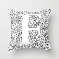 Letter F Throw Pillow