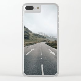 Middle of scottish road Clear iPhone Case