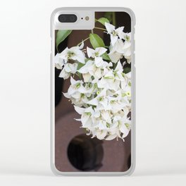 Bougainvillea and Wagon Wheel Clear iPhone Case