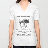 mlp V-neck T-shirts featuring MLP: Twilight Zone by turokevie
