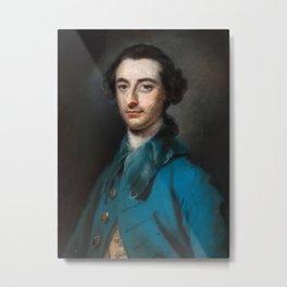 Francis Coates (1726-1770)  Portrait of a gentleman in blue coat Metal Print