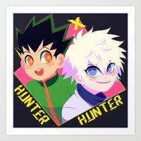 hunter x hunter Art Prints featuring Hunter x Hunter by XENVITA