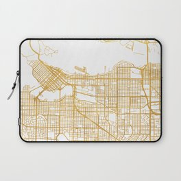 VANCOUVER CANADA CITY STREET MAP ART Laptop Sleeve