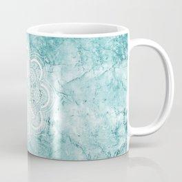Mandala on teal marble. Coffee Mug