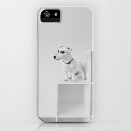 Puppy watching iPhone Case