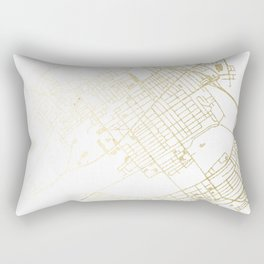 Wilkes-Barre Gold and White Map Rectangular Pillow