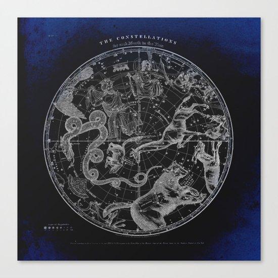 NY, Constellations Canvas Print