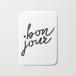 Bon Jour, French Quotes, French Prints, French Wall Prints, French Bath Mat