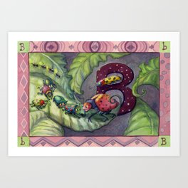 B is for Bugs Art Print