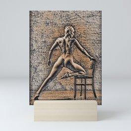 Legs Stretched Mini Art Print
