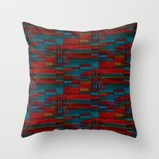 Dark reds in lines of chalk Throw Pillow