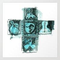 patchwork 04 Art Print