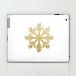 Gold Glitter Snowflake Laptop & iPad Skin