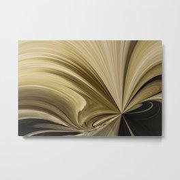 Chocolate Swirls Abstract Metal Print