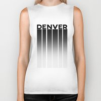 denver Biker Tanks featuring Denver Stilts by Aaron Pettijohn