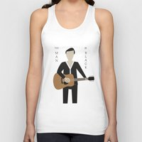 johnny cash Tank Tops featuring Johnny Cash by Sarah Duet