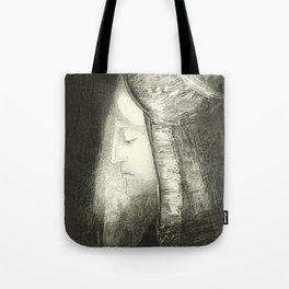 "Odilon Redon ""Profile of Light (Profil de lumière)"" Tote Bag"