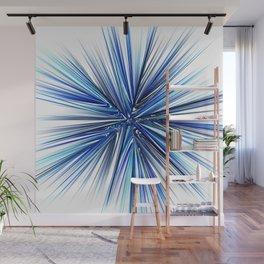 Symmetrical fractal abstract light rays effect neon art Wall Mural