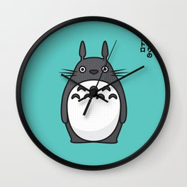 Totoro Pop Art - Blue Version Wall Clock