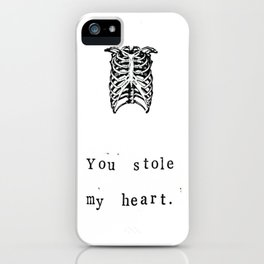 You Stole My Heart Anatomy Print iPhone Case