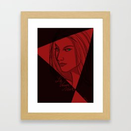 Le Veuve Noire - The Black Widow Framed Art Print