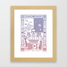 Love the craft Framed Art Print