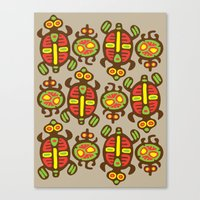 turtles Canvas Prints featuring Turtles by Olya Yang