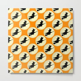 Halloween Witch Flight Metal Print