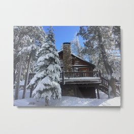 Mammoth Lakes Christmas Metal Print