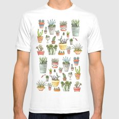 Potted Succulents MEDIUM Mens Fitted Tee White