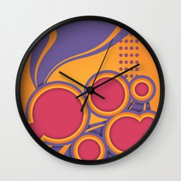 Ultra Violet ATTITUDE Wall Clock