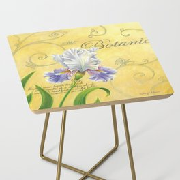 Purple and White Iris Side Table