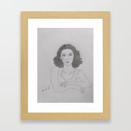 Hedy Lamarr Framed Art Print