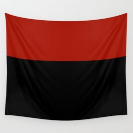 Black Red Color Block Wall Tapestry