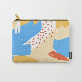 Yellow Abstraction Carry-All Pouch