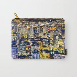 1560 Voyeuristic Vancouver Cityscape Golden Luminous Yaletown Vancouver Carry-All Pouch